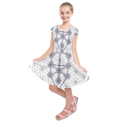 Tree Of Life Flower Of Life Stage Kids  Short Sleeve Dress