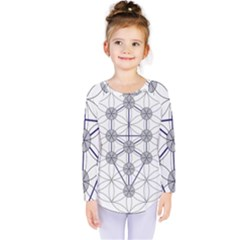 Tree Of Life Flower Of Life Stage Kids  Long Sleeve Tee