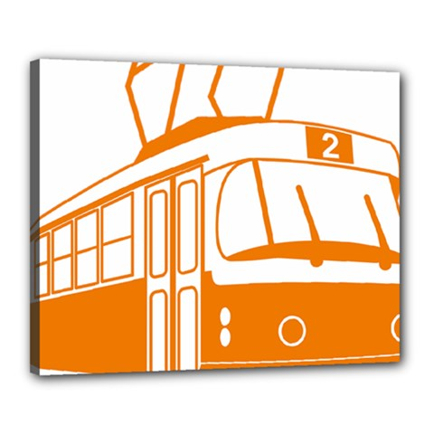 Tramway Transportation Electric Canvas 20  x 16