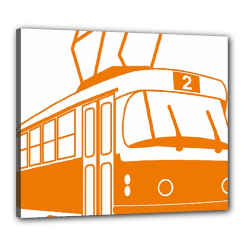 Tramway Transportation Electric Canvas 24  x 20