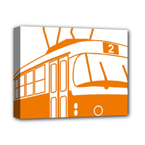 Tramway Transportation Electric Deluxe Canvas 14  x 11