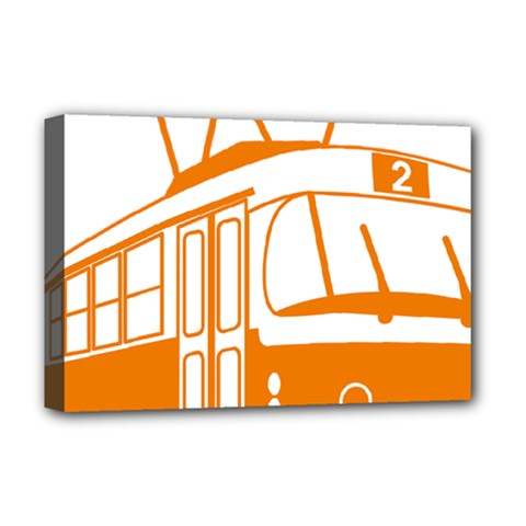 Tramway Transportation Electric Deluxe Canvas 18  x 12
