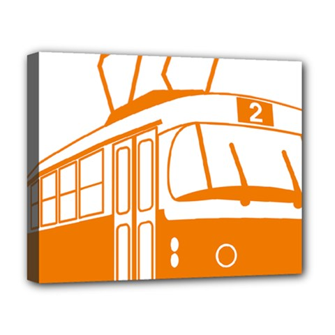 Tramway Transportation Electric Deluxe Canvas 20  x 16