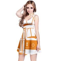 Tramway Transportation Electric Reversible Sleeveless Dress