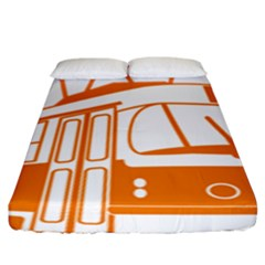 Tramway Transportation Electric Fitted Sheet (King Size)