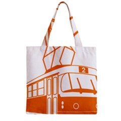 Tramway Transportation Electric Zipper Grocery Tote Bag