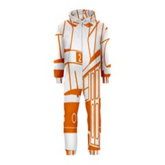 Tramway Transportation Electric Hooded Jumpsuit (Kids)