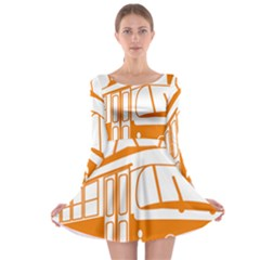 Tramway Transportation Electric Long Sleeve Skater Dress