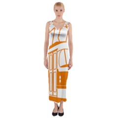 Tramway Transportation Electric Fitted Maxi Dress