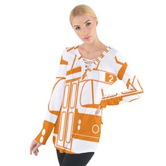 Tramway Transportation Electric Women s Tie Up Tee