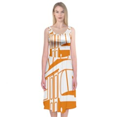 Tramway Transportation Electric Midi Sleeveless Dress