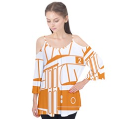 Tramway Transportation Electric Flutter Tees