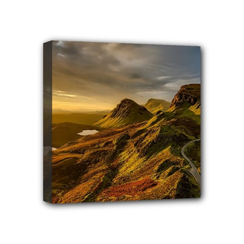 Scotland Landscape Scenic Mountains Mini Canvas 4  x 4