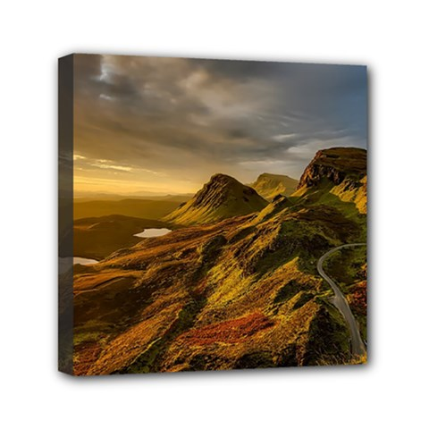 Scotland Landscape Scenic Mountains Mini Canvas 6  x 6