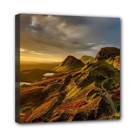 Scotland Landscape Scenic Mountains Mini Canvas 8  x 8