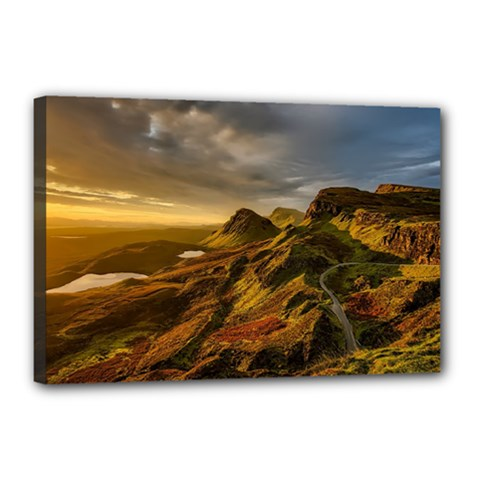 Scotland Landscape Scenic Mountains Canvas 18  x 12
