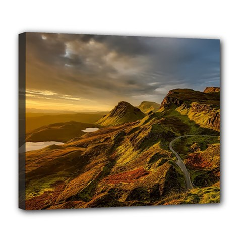 Scotland Landscape Scenic Mountains Deluxe Canvas 24  x 20