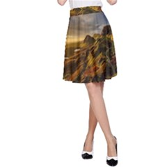 Scotland Landscape Scenic Mountains A-Line Skirt