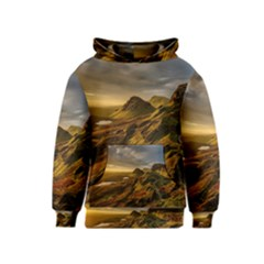 Scotland Landscape Scenic Mountains Kids  Pullover Hoodie