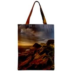 Scotland Landscape Scenic Mountains Zipper Classic Tote Bag