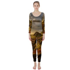 Scotland Landscape Scenic Mountains Long Sleeve Catsuit