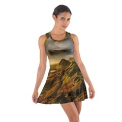 Scotland Landscape Scenic Mountains Cotton Racerback Dress