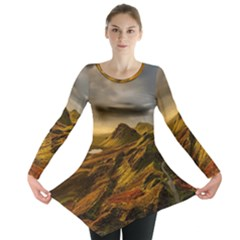 Scotland Landscape Scenic Mountains Long Sleeve Tunic