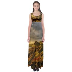 Scotland Landscape Scenic Mountains Empire Waist Maxi Dress
