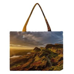 Scotland Landscape Scenic Mountains Medium Tote Bag