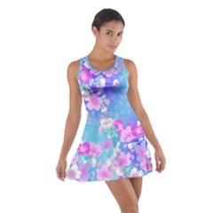 colorful pastel  flowers Cotton Racerback Dress
