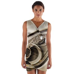 Spotlight Light Auto Wrap Front Bodycon Dress