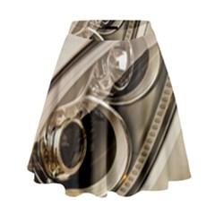 Spotlight Light Auto High Waist Skirt