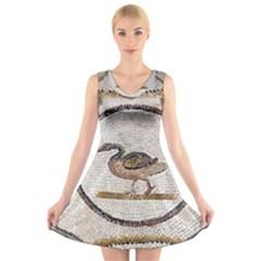Sousse Mosaic Xenia Patterns V-Neck Sleeveless Skater Dress
