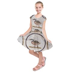 Sousse Mosaic Xenia Patterns Kids  Short Sleeve Dress