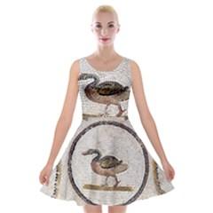 Sousse Mosaic Xenia Patterns Velvet Skater Dress
