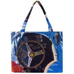 Steering Wheel Ferrari Blue Car Mini Tote Bag