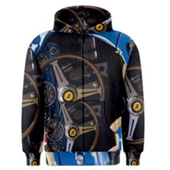 Steering Wheel Ferrari Blue Car Men s Zipper Hoodie
