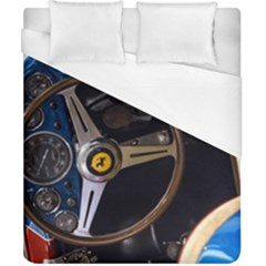 Steering Wheel Ferrari Blue Car Duvet Cover (California King Size)