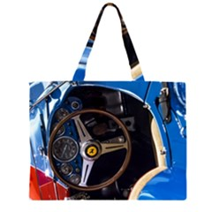Steering Wheel Ferrari Blue Car Large Tote Bag