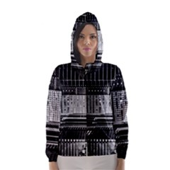 Urban Scene Street Road Busy Cars Hooded Wind Breaker (Women)