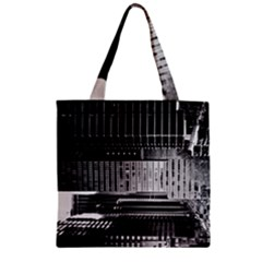 Urban Scene Street Road Busy Cars Zipper Grocery Tote Bag