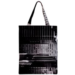 Urban Scene Street Road Busy Cars Zipper Classic Tote Bag