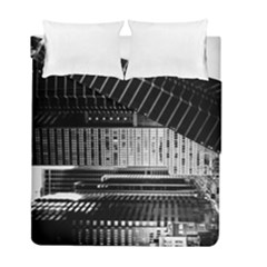 Urban Scene Street Road Busy Cars Duvet Cover Double Side (Full/ Double Size)