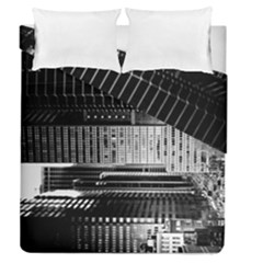 Urban Scene Street Road Busy Cars Duvet Cover Double Side (Queen Size)