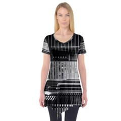 Urban Scene Street Road Busy Cars Short Sleeve Tunic