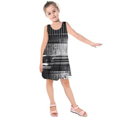 Urban Scene Street Road Busy Cars Kids  Sleeveless Dress