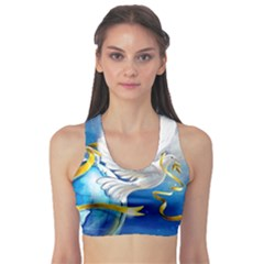 Turtle Doves Christmas Sports Bra