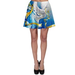 Turtle Doves Christmas Skater Skirt