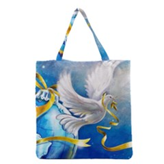 Turtle Doves Christmas Grocery Tote Bag