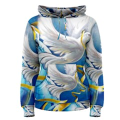 Turtle Doves Christmas Women s Pullover Hoodie